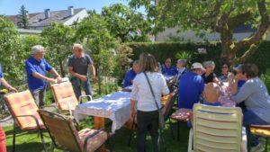 Privates Treffen in Alfreds Garten