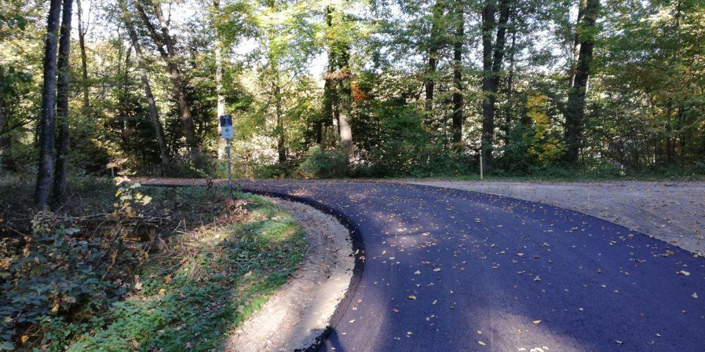Der neue Radweg am Schanzwiesweiher