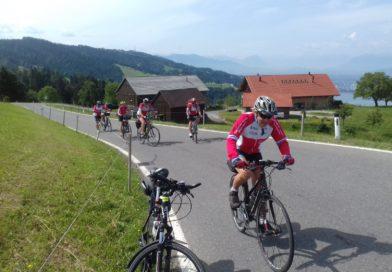Tourenradler auf Pfändertour