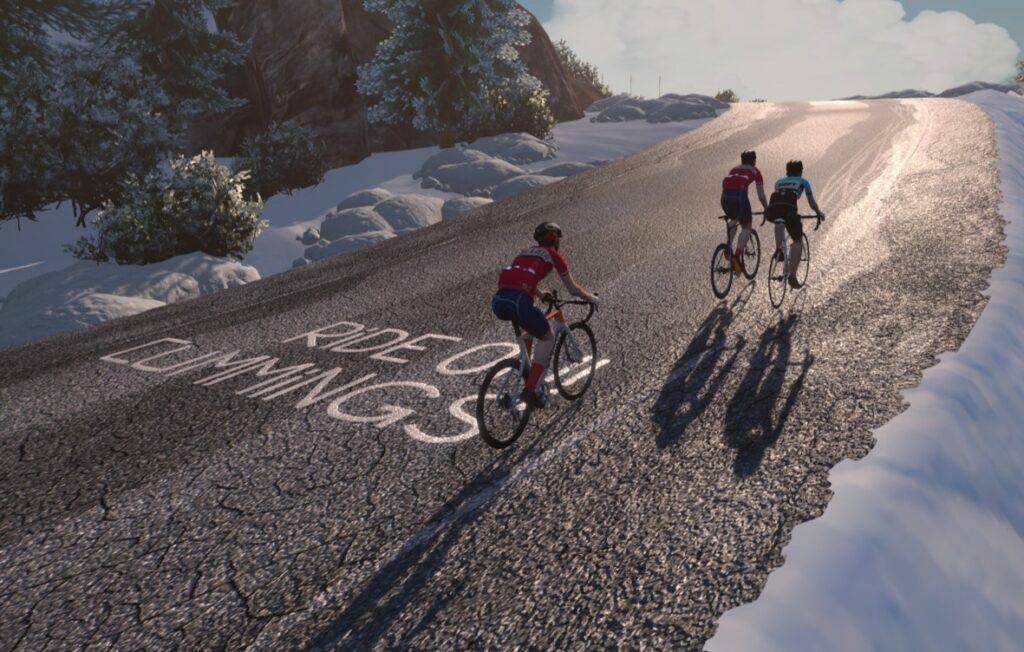Top of Alpe d´Zwift