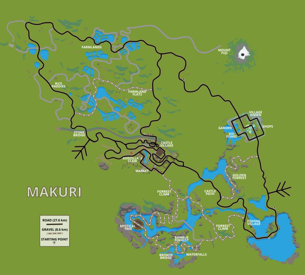 Zwift Makuri Island Map